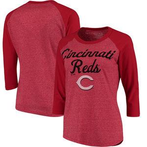 Cincinnati Reds Majestic Threads Raglan T-Shirt